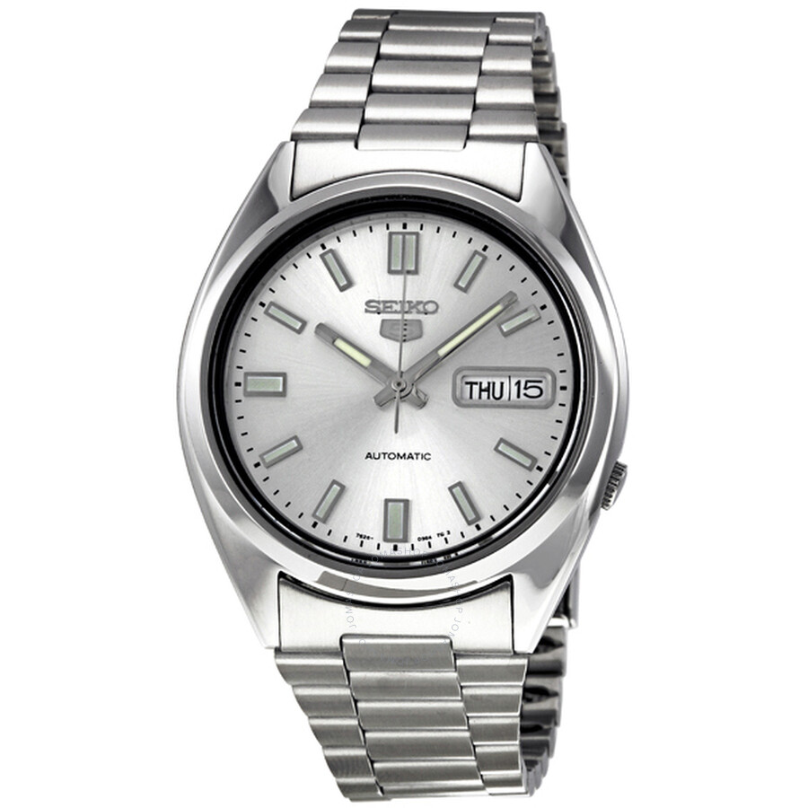 808891aa7 Seiko 5 Automatic Silver Dial Stainless Steel Men's Watch SNXS73 ...