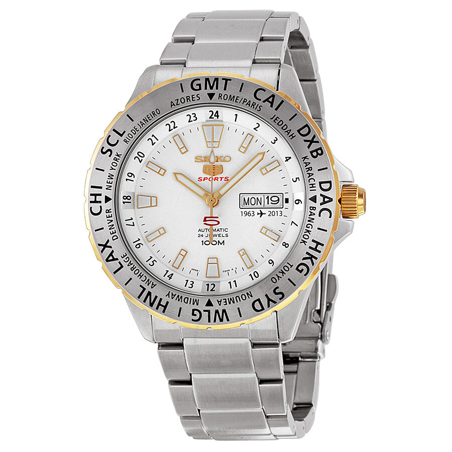 Seiko 5 Special Edition Automatic White Dial Stainless Steel Men S Watch Srp438