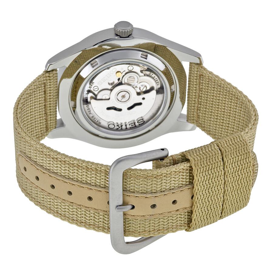 2738fc05928 Seiko 5 Sport Automatic Cream Dial Men s Watch SNZG07 - Seiko 5 ...