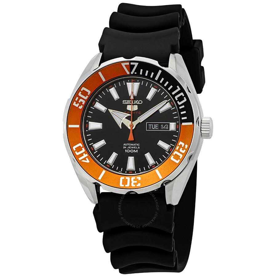 Seiko 5 Sports Automatic Black Dial Men s Watch SRPC59 - Seiko 5 ... c468c194cbef