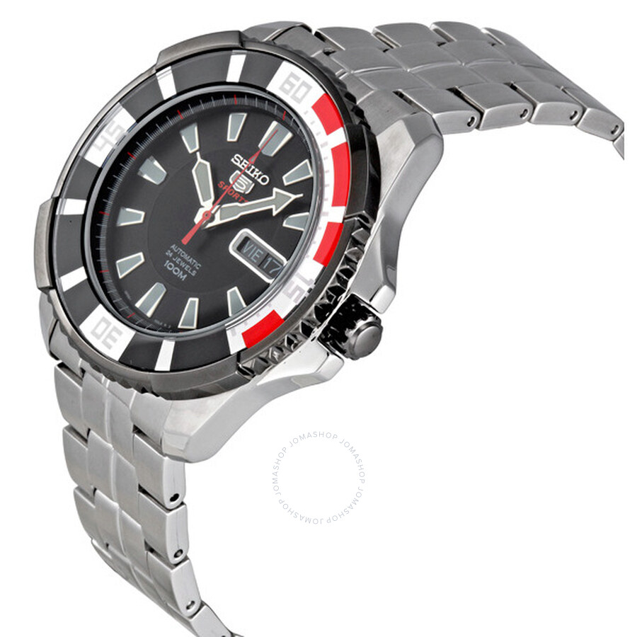 78a0c3931 ... Seiko 5 Sports Automatic Divers Black Ion-plated Bezel Men's Watch  SRP207K1 ...