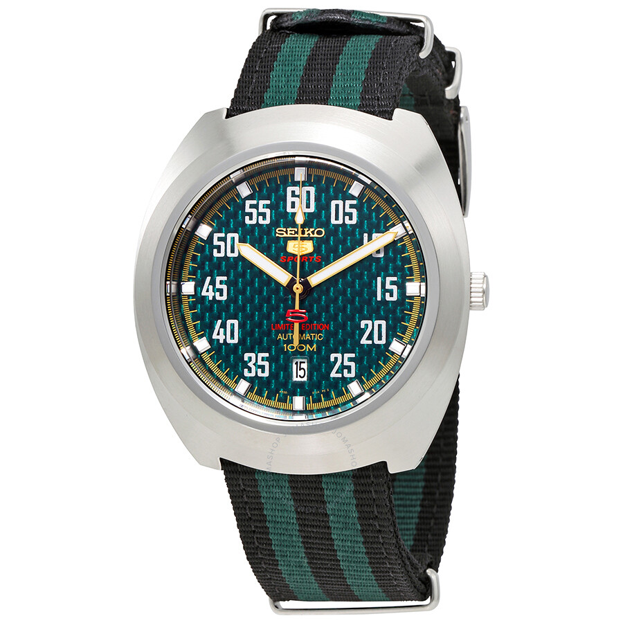 Seiko 5 Sports Automatic Green Dial Men S Watch Srpa89k1