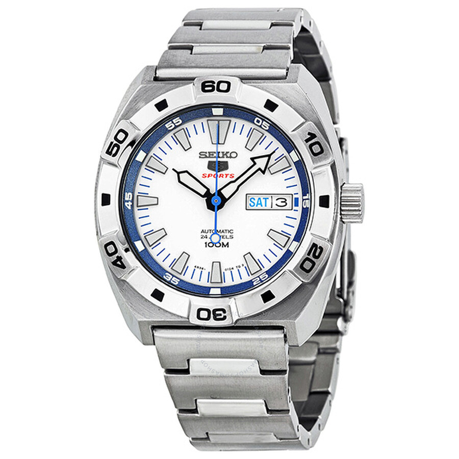14c5943b1 Seiko 5 Sports Automatic White Dial Stainless Steel Men's Watch SRP279 ...