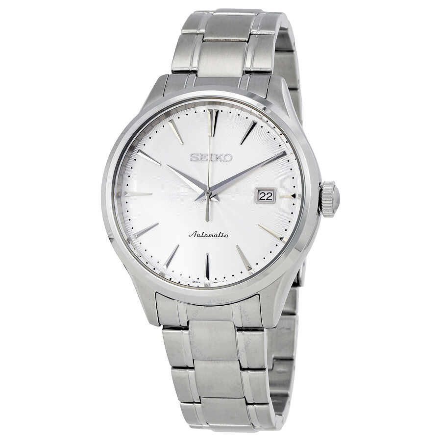 09be20804 Seiko Automatic Silver Dial Stainless Steel Men's Watch SRP701 ...