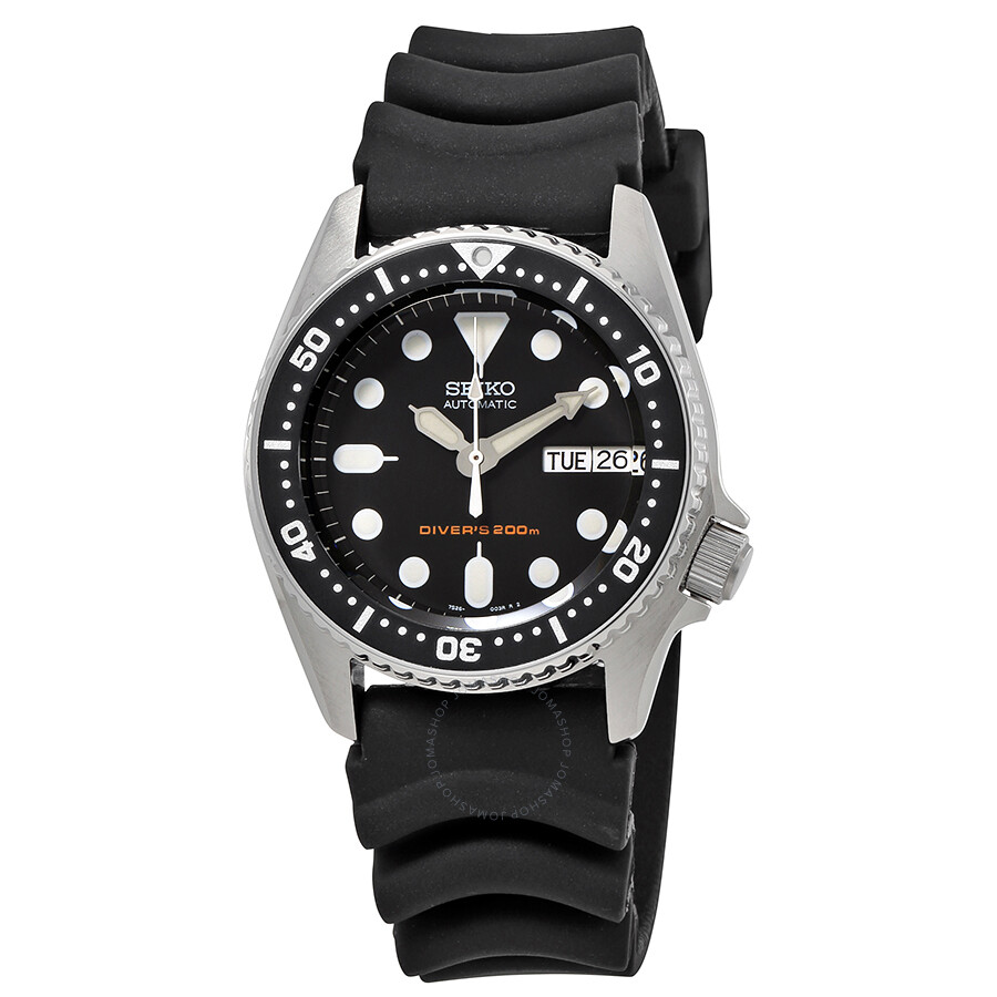 seiko black automatic diver men 39 s watch skx013k1 diver seiko watches jomashop On seiko diver watch