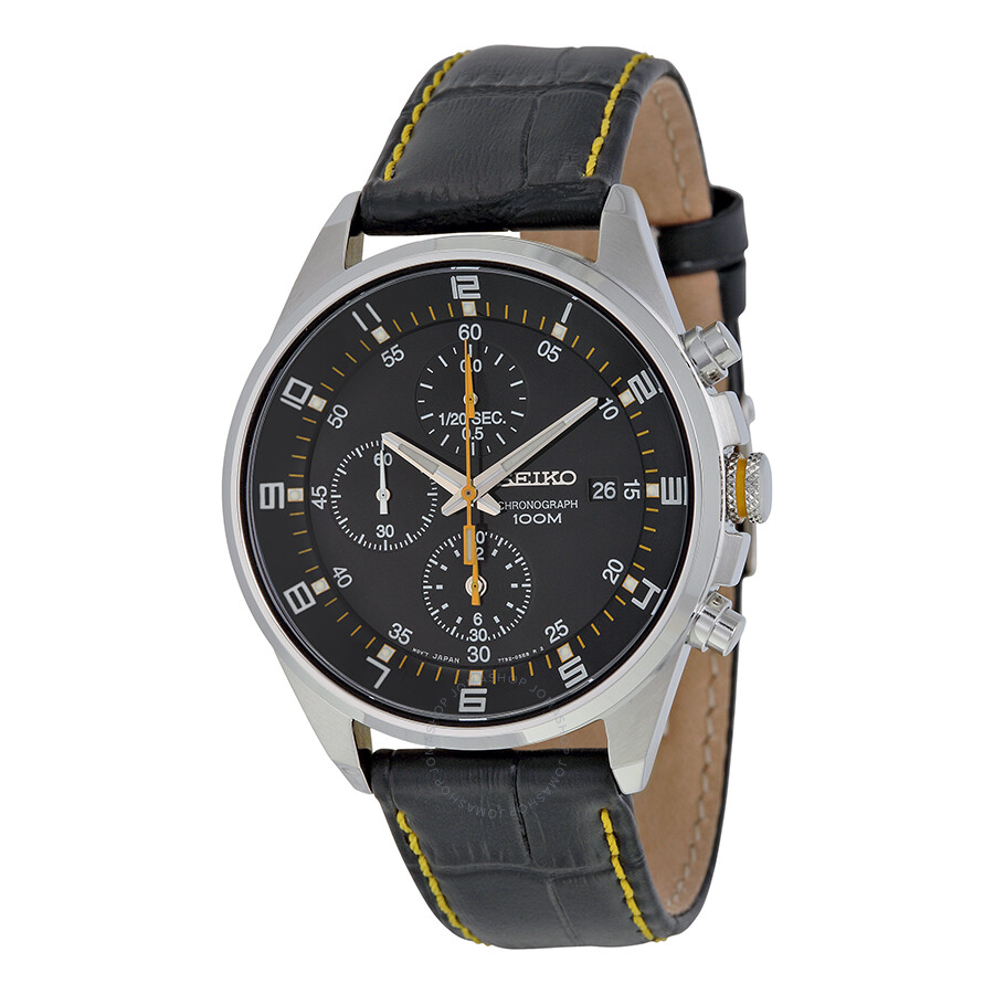 seiko chronograph black dial men 39 s watch sndc89p2. Black Bedroom Furniture Sets. Home Design Ideas