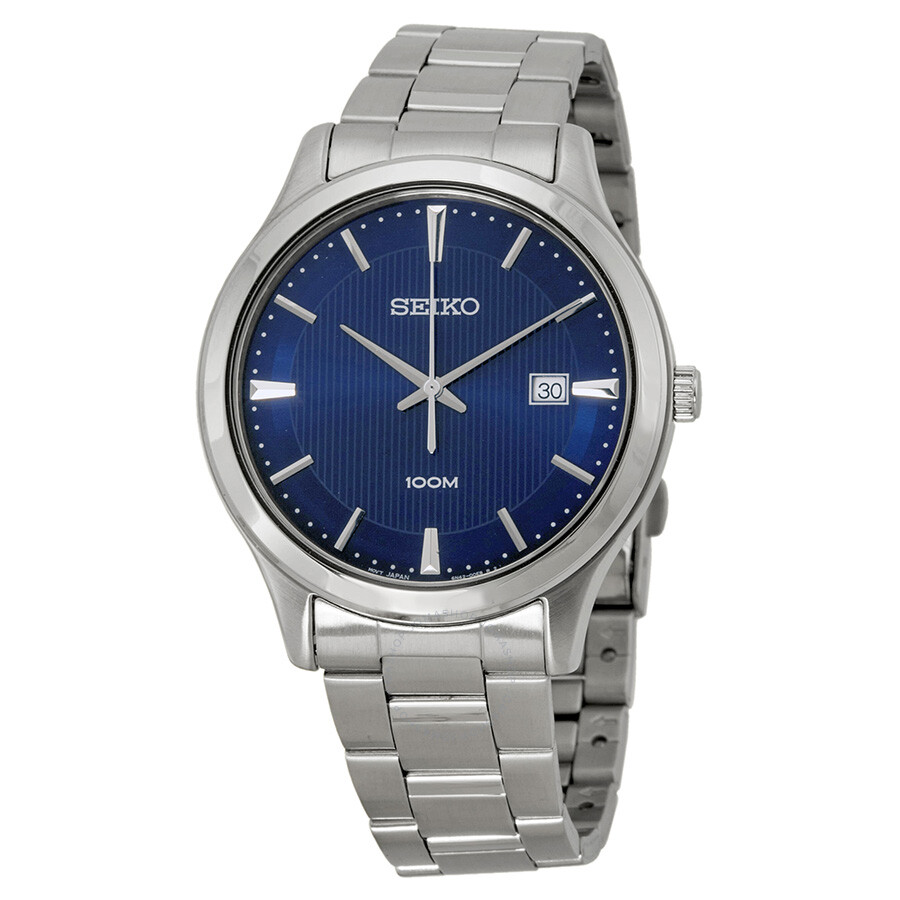 seiko blue dial stainless steel men 39 s watch sur049p1 stainless steel seiko watches jomashop