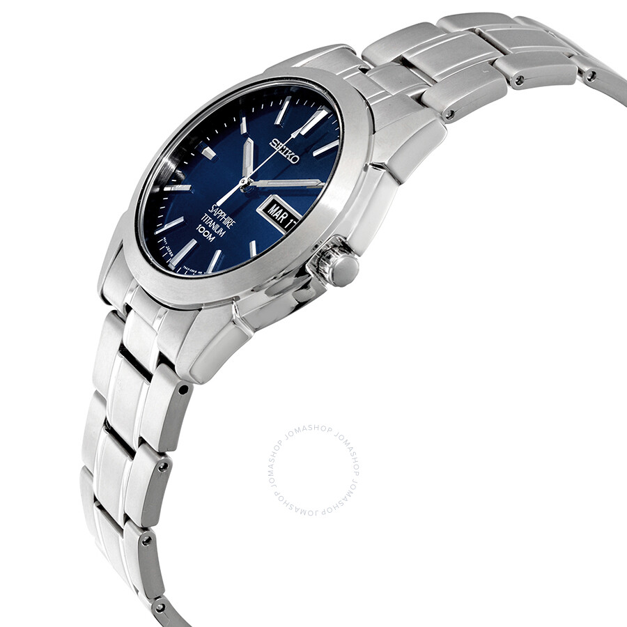 seiko blue dial titanium men s watch sgg729   titanium