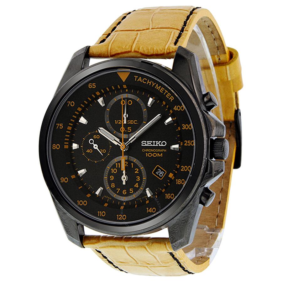 black seiko chronograph