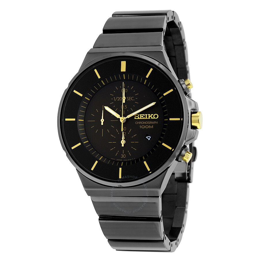 seiko chronograph black dial men 39 s watch sndd57. Black Bedroom Furniture Sets. Home Design Ideas