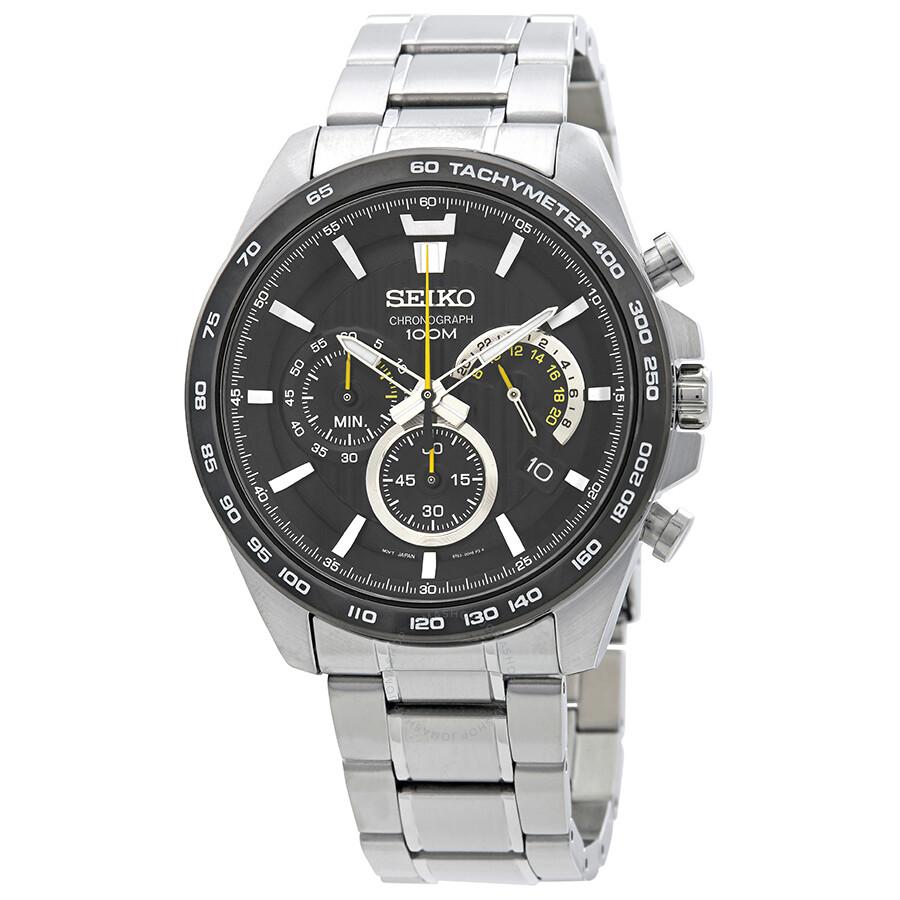 Seiko Chronograph Black Dial Men s Watch SSB303P1 - Seiko - Watches ... 09d222043f8b