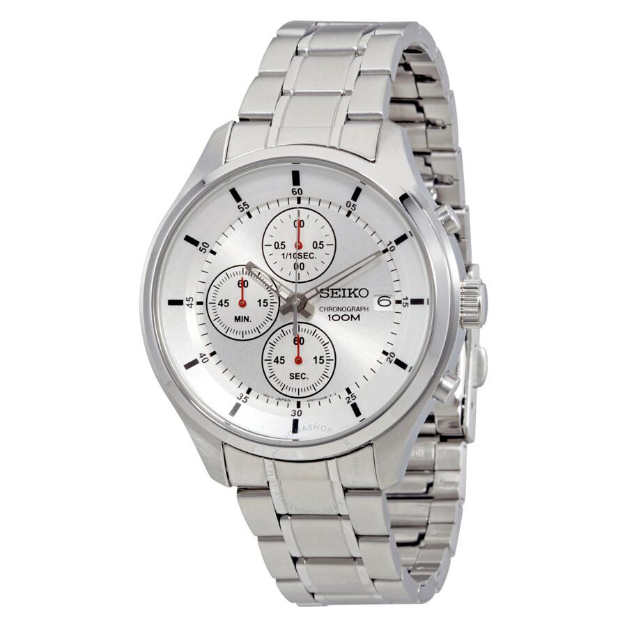 Seiko Silver Dial Chronograph Men's Watch SKS535