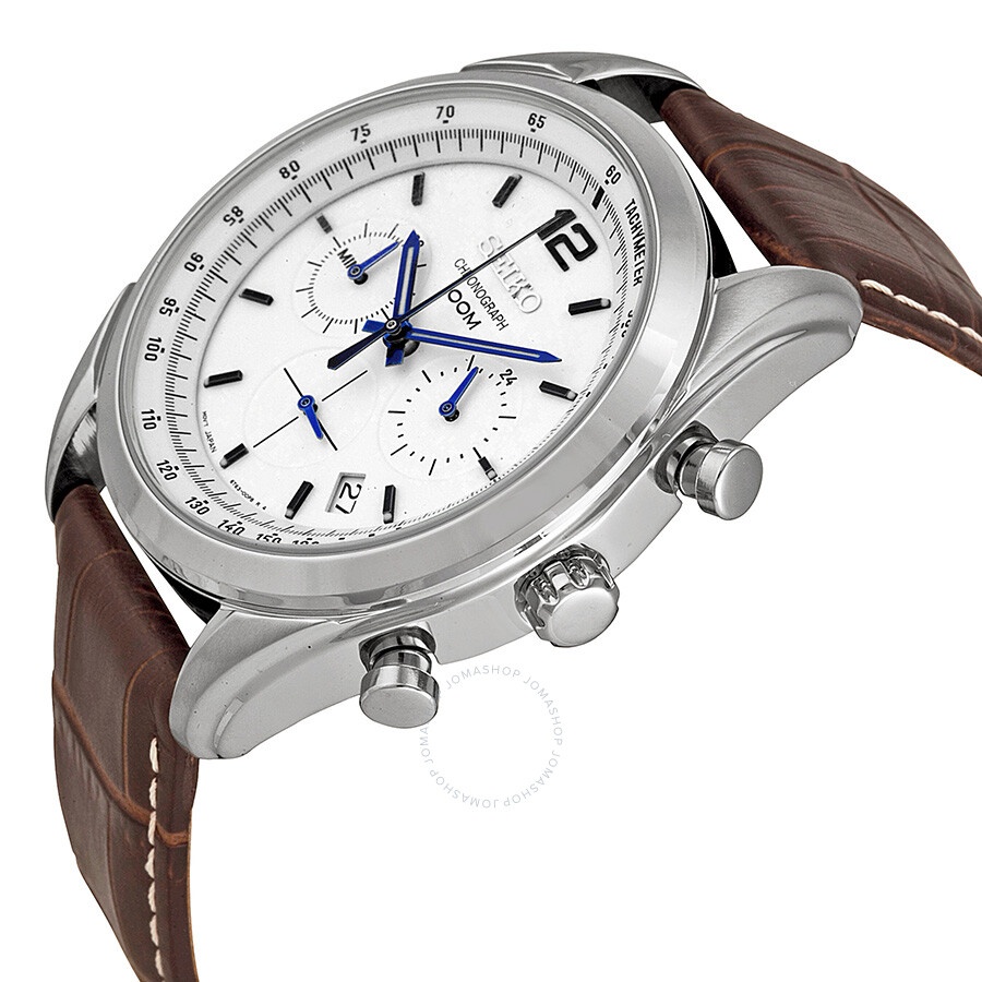 seiko chronograph white dial men 39 s watch ssb095 chronograph seiko watches jomashop