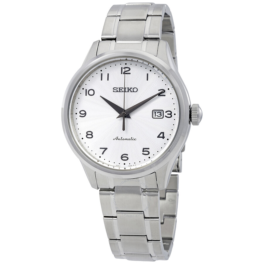Seiko Classic Automatic White Dial Men S Watch Srpc17