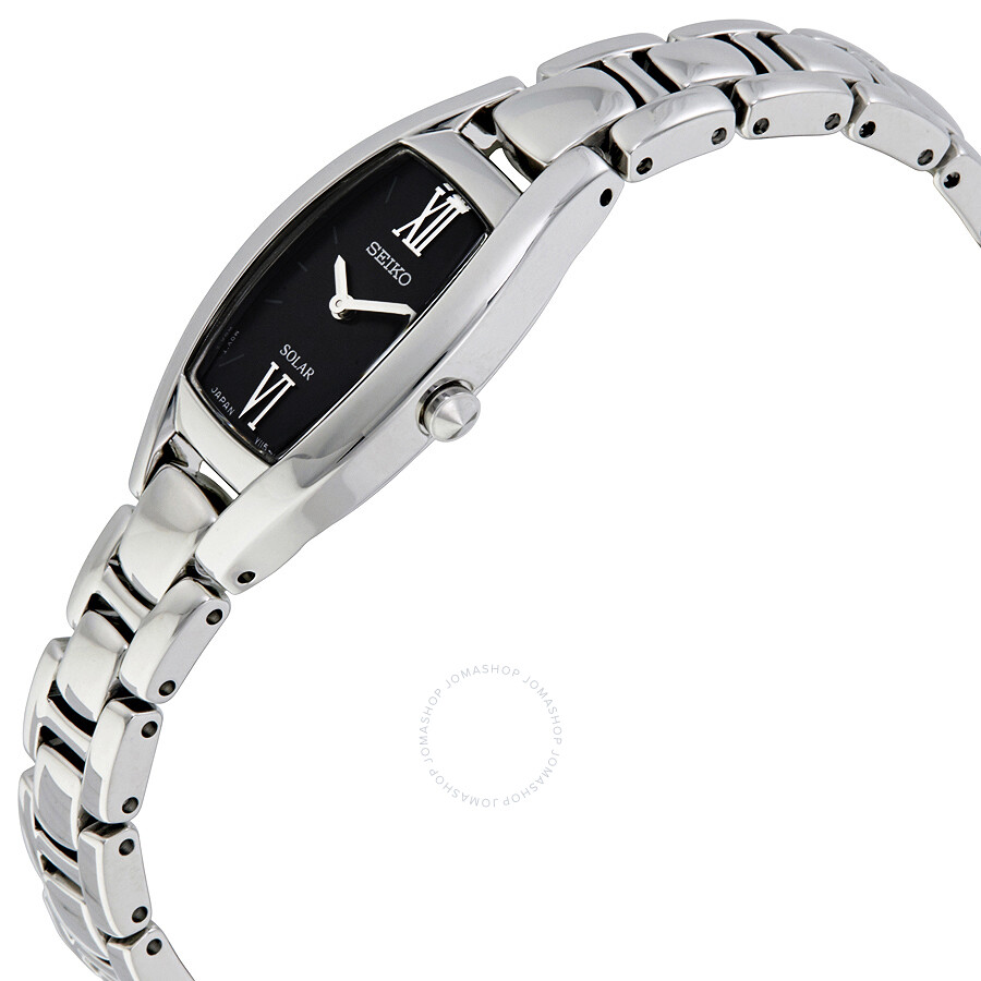 Seiko core black dials ladies stainless steel watch sup