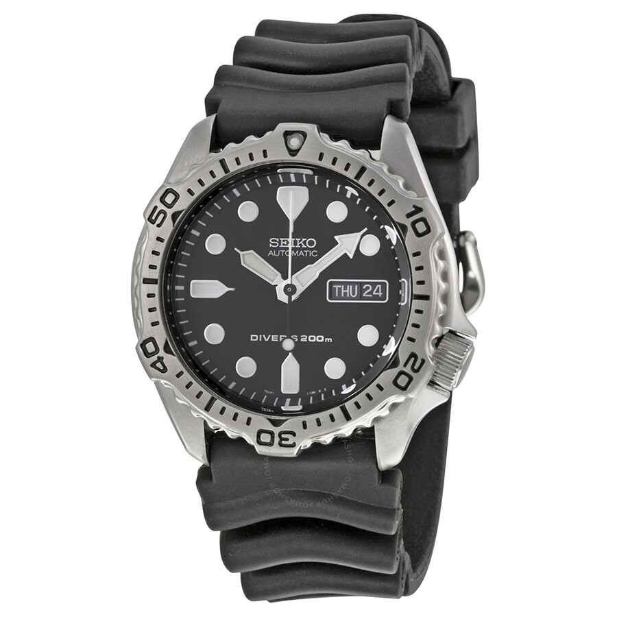 Seiko Diver Black Dial Automatic Men's Watch SKX171