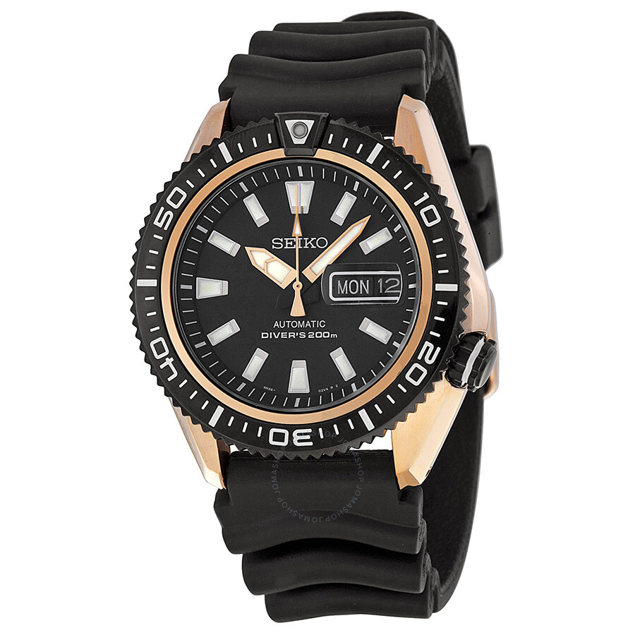 seiko diver watches jomashop seiko diver black dial black rubber men s watch