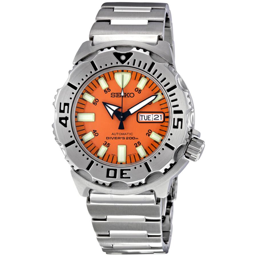 Seiko diver steel orange men 39 s watch skx781 diver seiko watches jomashop - Orange dive watch ...