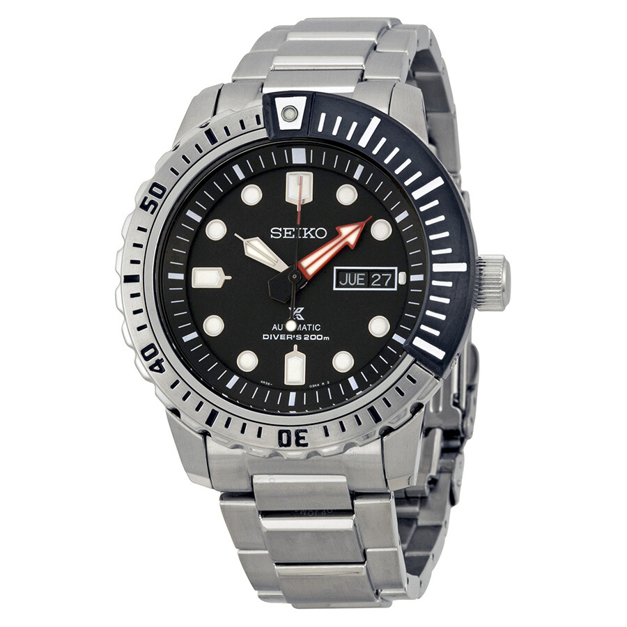 Seiko Divers Automatic Black Dial Stainless Steel Men's ...