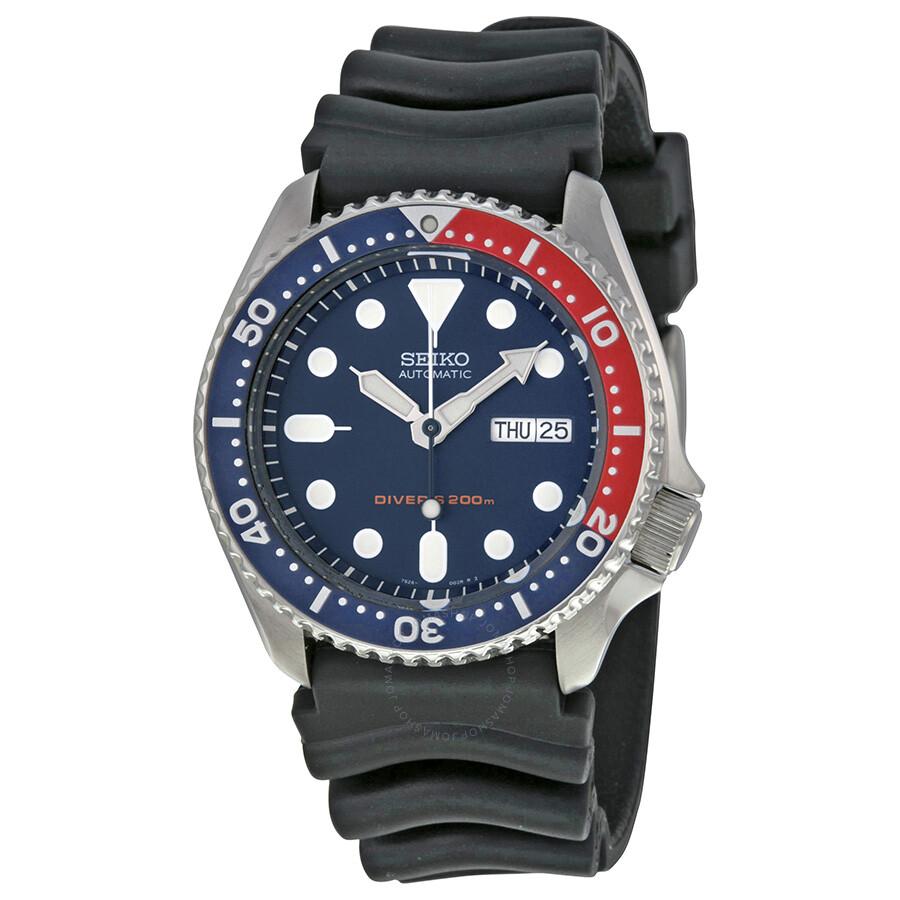 Seiko Divers Automatic Deep Blue Dial Black Pepsi Bezel Men S Watch