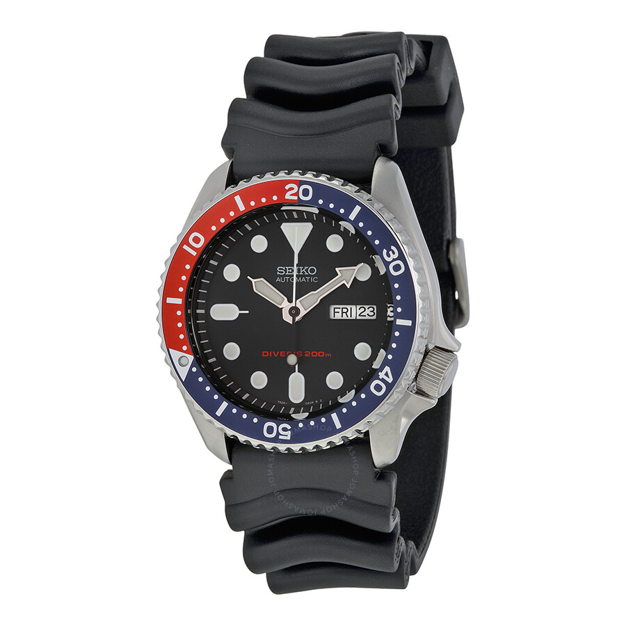 bf7b269aa650d Seiko Divers Pepsi Bezel Blue Dial Automatic Stainless Steel Men s Watch  SKX009 ...