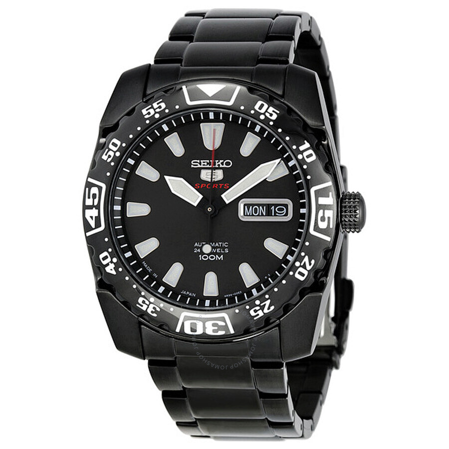 Seiko Divers Watch Black Dial Black PVD Stainless Steel Men s Watch K1 Item  No. SRP169 8049074a76c9