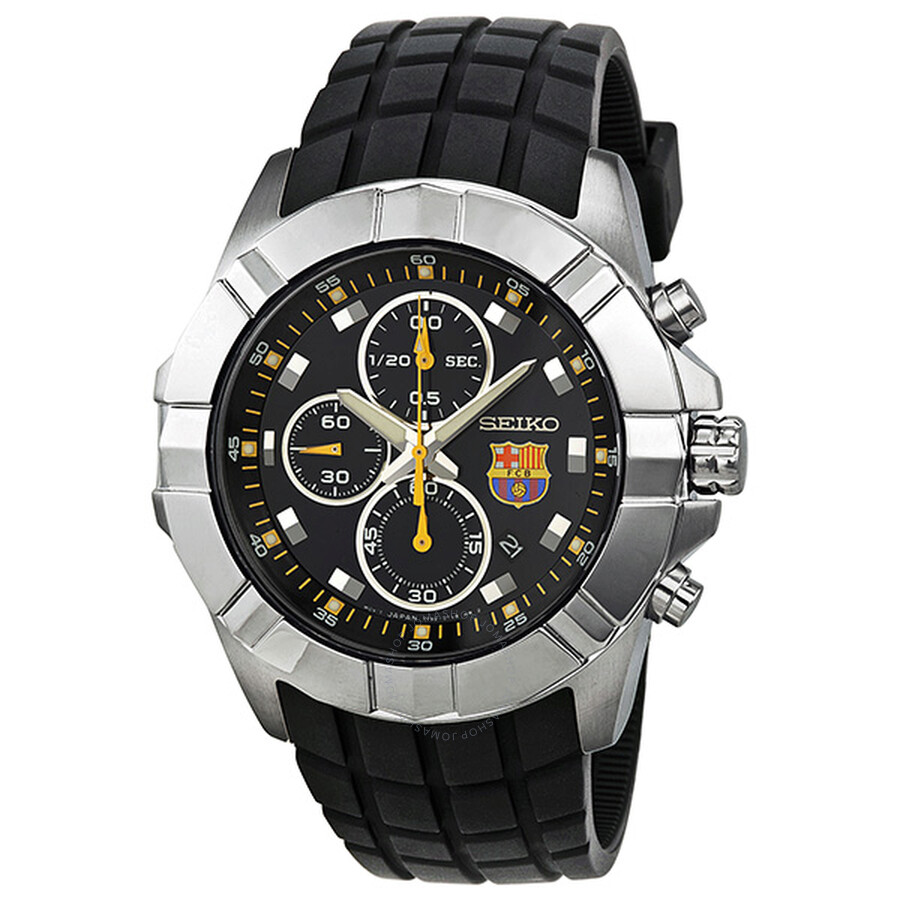 Seiko FC Barcelona Chronograph Blue Dial Stainless Steel Men s Watch SNDD81  ... 1a7fab7cc2