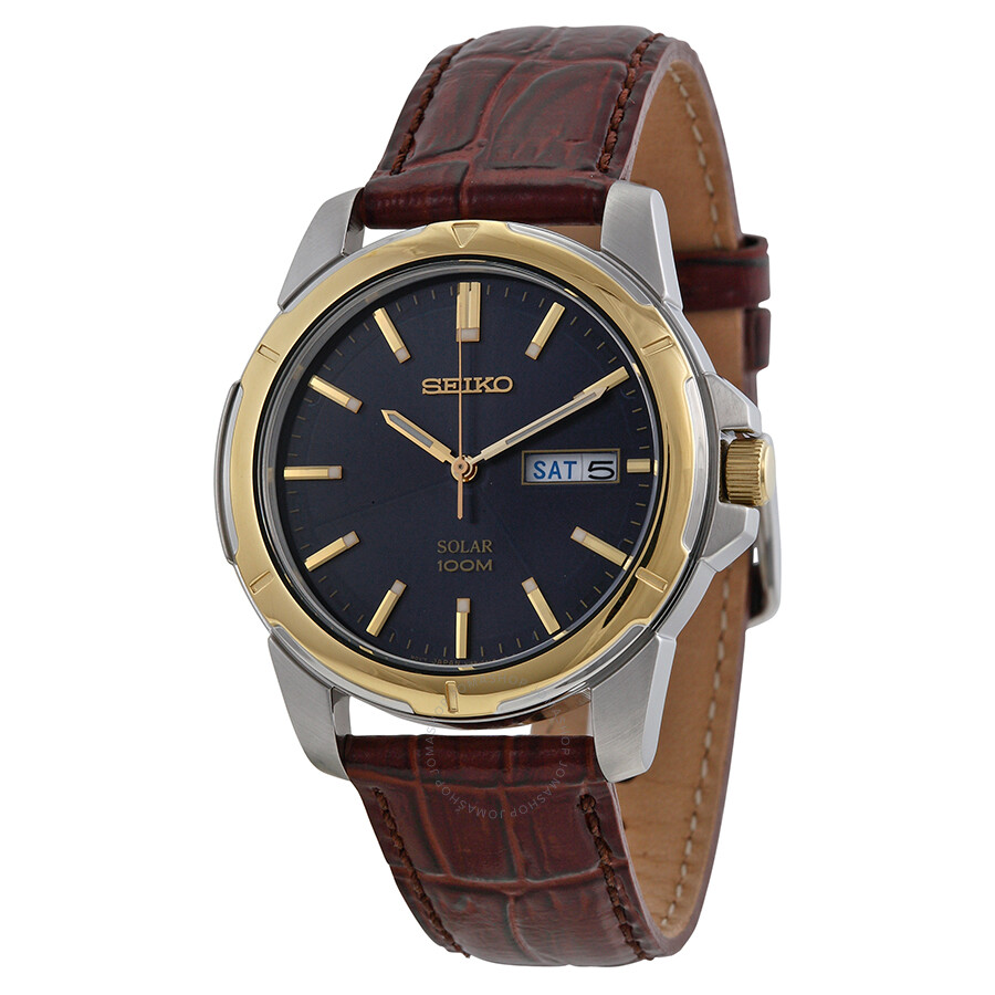 Seiko functional solar blue dial men 39 s watch sne102 solar seiko watches jomashop for Seiko solar