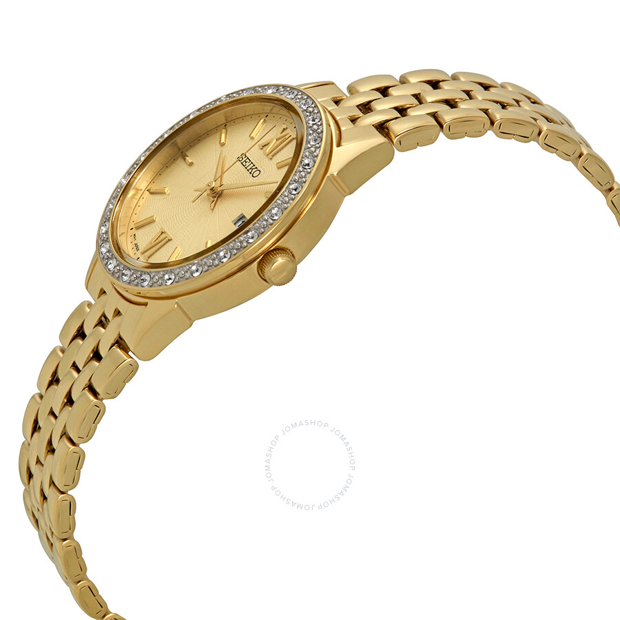 seiko gold dial ladies watch sur688p1 seiko watches jomashop