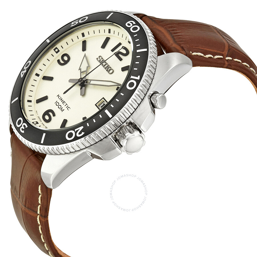 Seiko kinetic champagne dial men 39 s watch ska749 kinetic seiko watches jomashop for Seiko kinetic watches