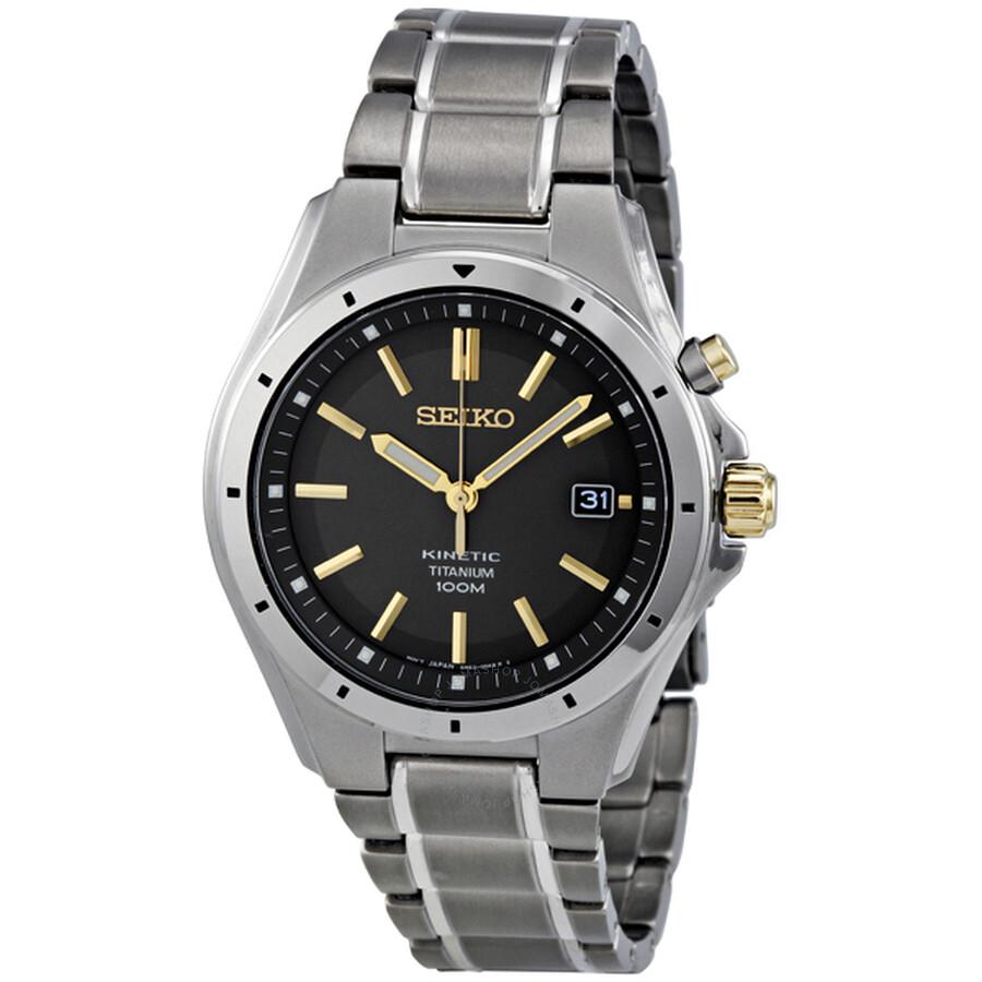 seiko titanium watches jomashop seiko kinetic grey dial titanium men s watch