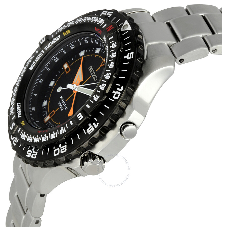 Seiko kinetic men 39 s watch ska423p1 kinetic seiko watches jomashop for Seiko kinetic watches