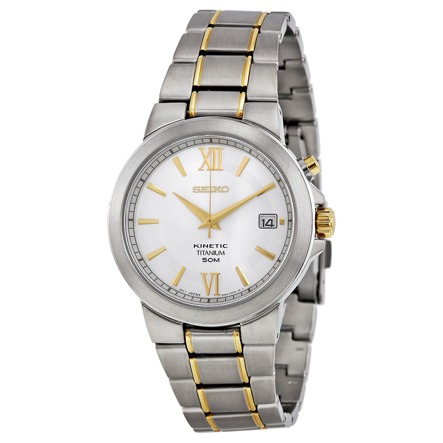 Seiko kinetic titanium men 39 s watch ska485 seiko watches jomashop for Seiko kinetic watches