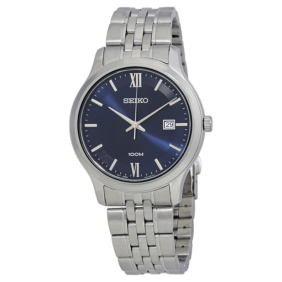3f0f8942a Seiko Neo Classic Blue Dial Stainless Steel Men's Watch SUR219P1 ...