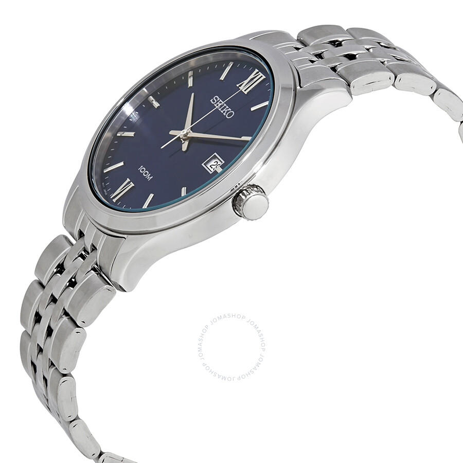fc0cfffc7 ... Seiko Neo Classic Blue Dial Stainless Steel Men's Watch SUR219P1 ...