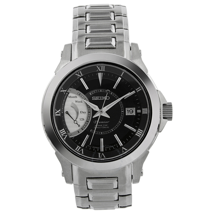 Seiko Premier Kinetic Direct Drive Stainless Steel Men s Watch SRG001 c7499fc39d