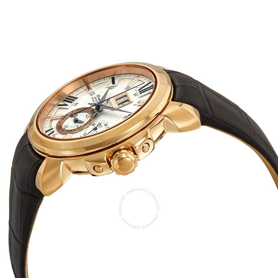 68189ba33 ... Seiko Premier Kinetic Perpetual White Dial Men's Watch SNP150 ...