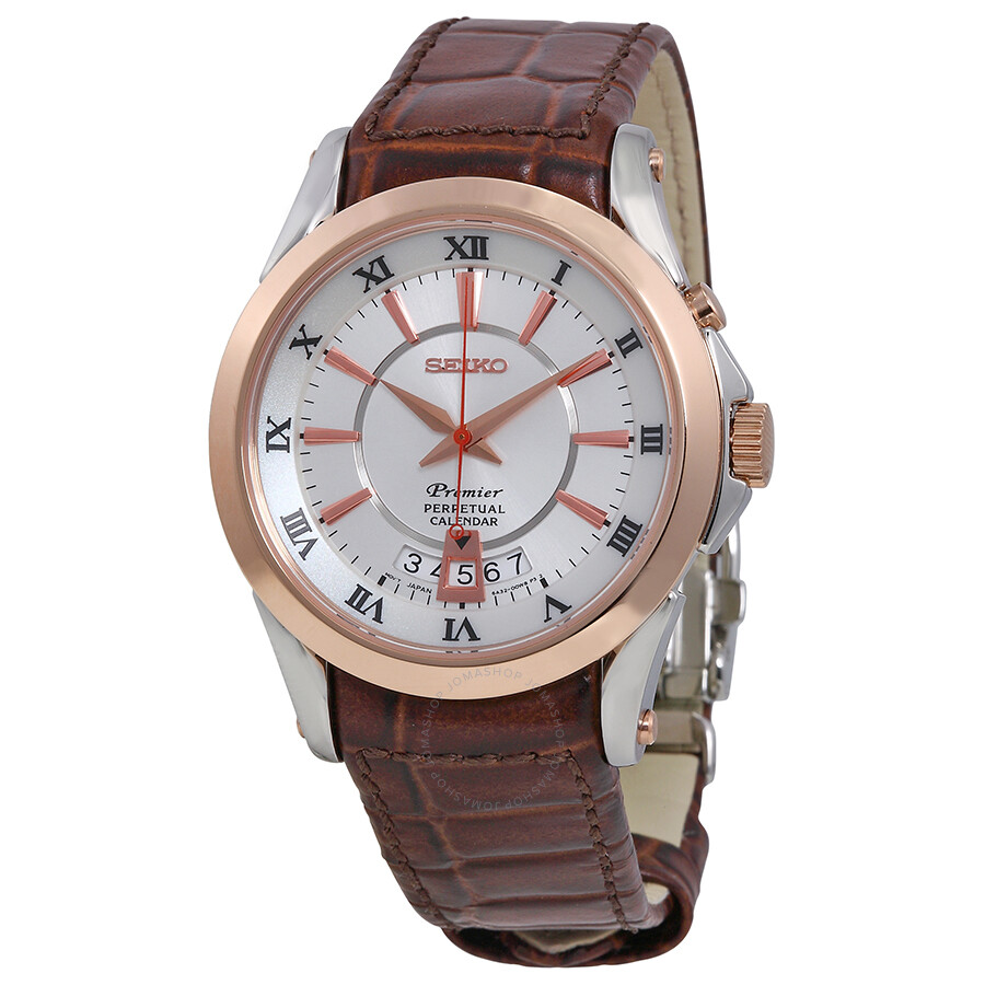 seiko premier rose gold tone men s watch snq126 premier seiko seiko premier rose gold tone men s watch snq126