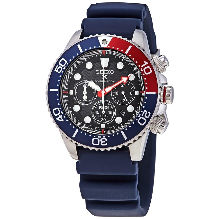Seiko Prospex Chronograph Black Dial Men S Solar Watch Ssc663p1