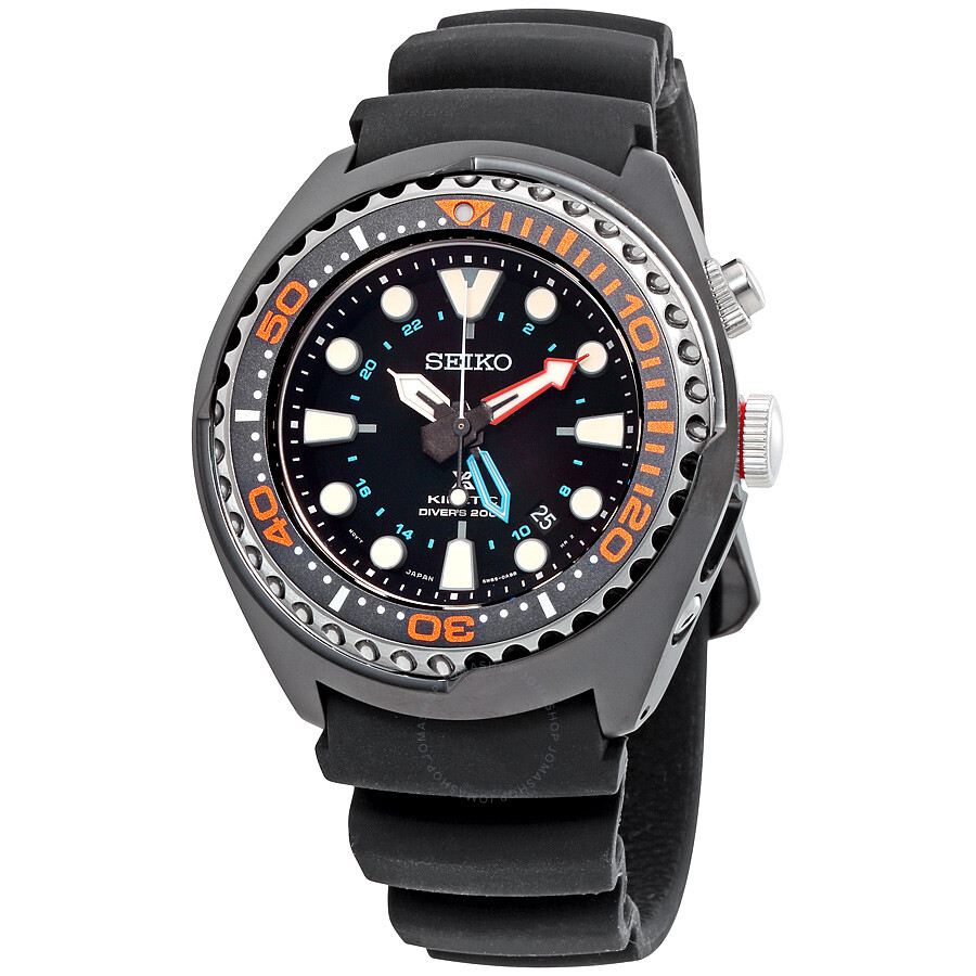 Seiko Prospex Kinetic GMT Black Silicone Men s Watch SUN023 - Seiko ... 09061391d