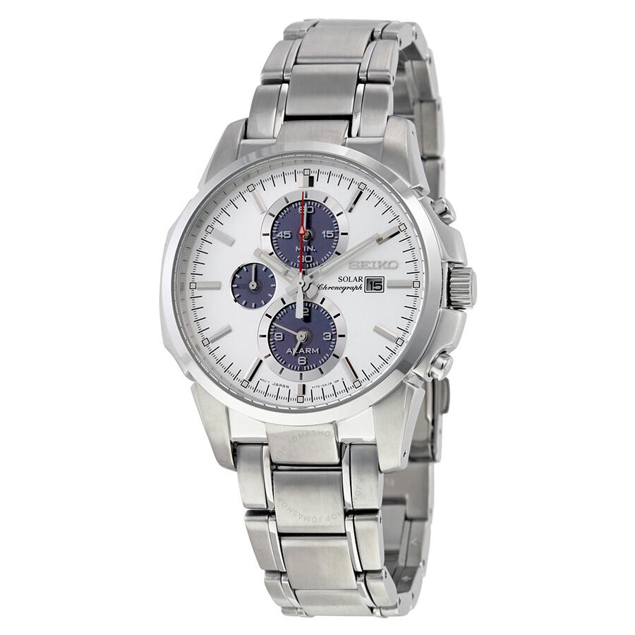039eef964c1 Seiko Prospex Solar Alarm Chronograph White Dial Stainless Steel Men s Watch  SSC083 ...