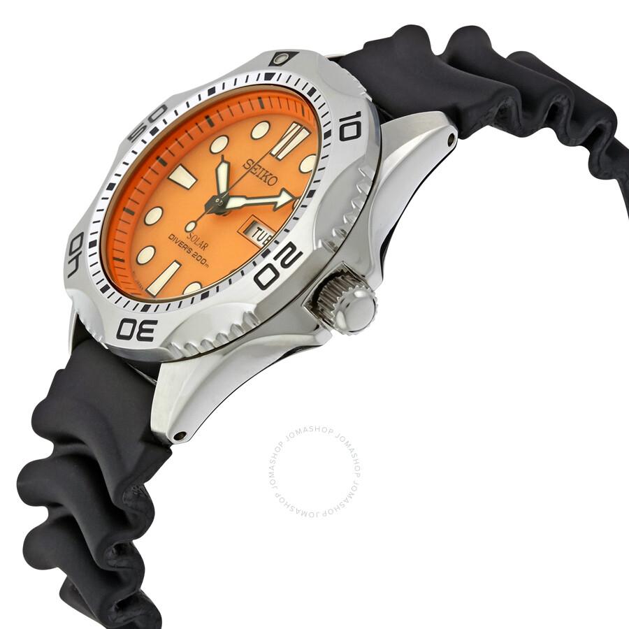 Seiko Prospex Solar Quartz Dive Orange Dial Men S Watch Sne109