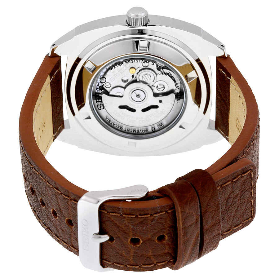 4b0f8d2cd2ef2 Seiko Recraft Automatic Blue Dial Brown Leather Men s Watch SNKN37 ...