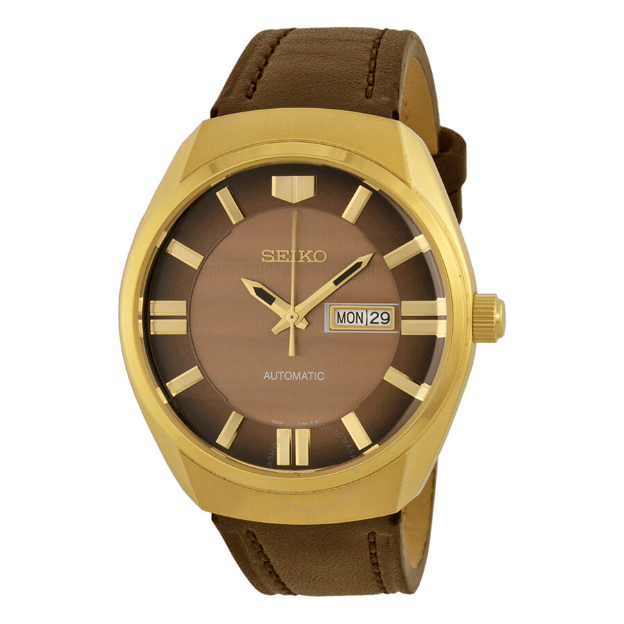 bdbf27902b85 Seiko Recraft Automatic Brown Dial Brown Leather Men s Watch SNKN08 ...