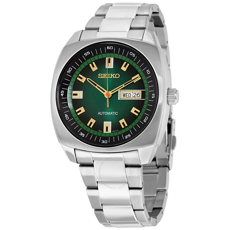 seiko recraft automatic green stainless steel s