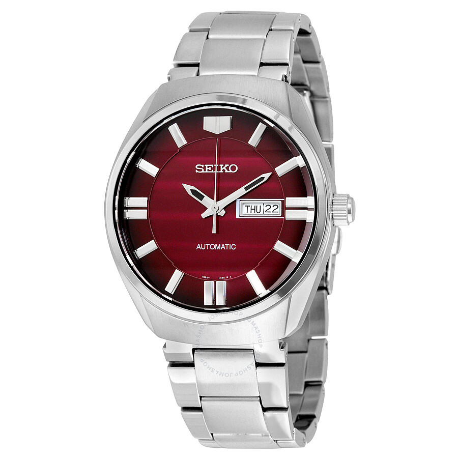 seiko recraft automatic red dial stainless steel men 39 s watch snkn05 recraft seiko watches