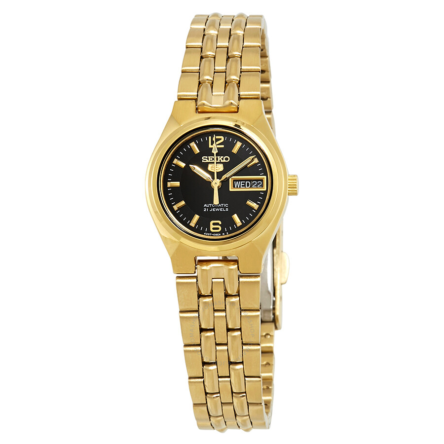Seiko Series 5 Automatic Black Dial Ladies Watch Symk38 Seiko 5 Seiko Watches Jomashop