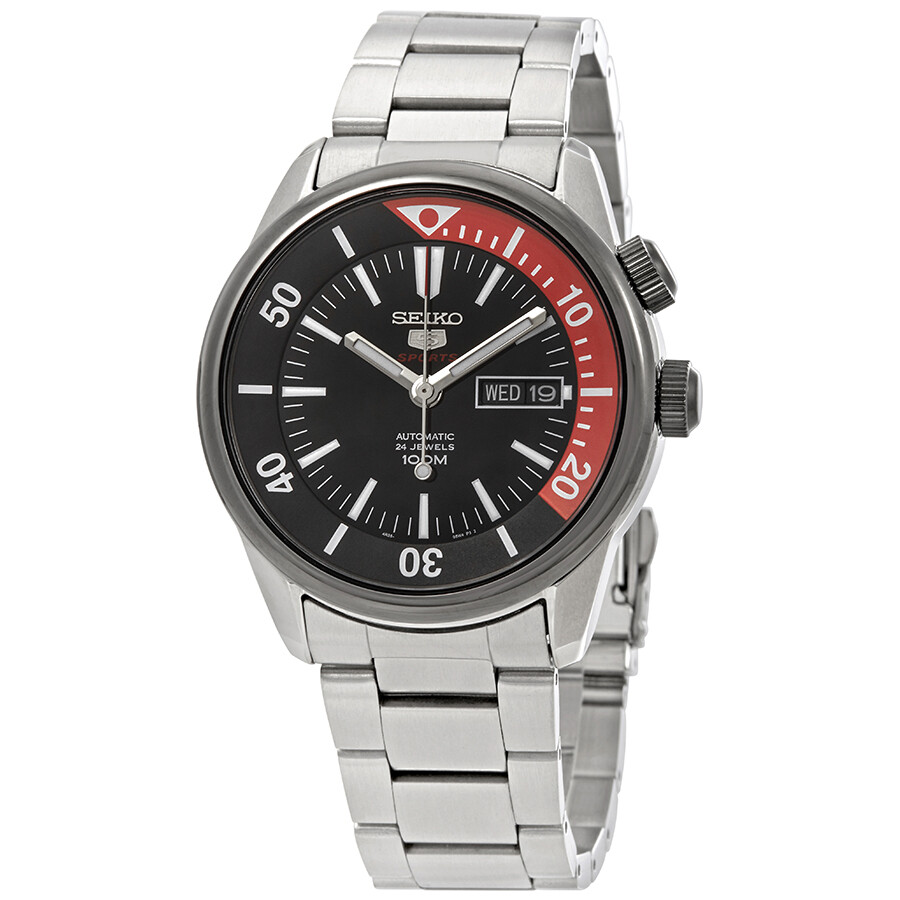 Seiko Series 5 Automatic Black Dial Men S Watch Srpb29