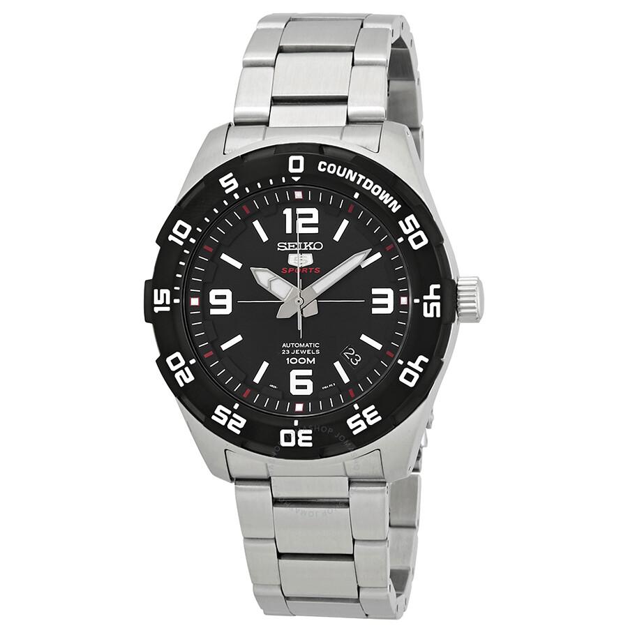 81afae38b Seiko Series 5 Automatic Black Dial Men's Watch SRPB81 - Seiko 5 ...
