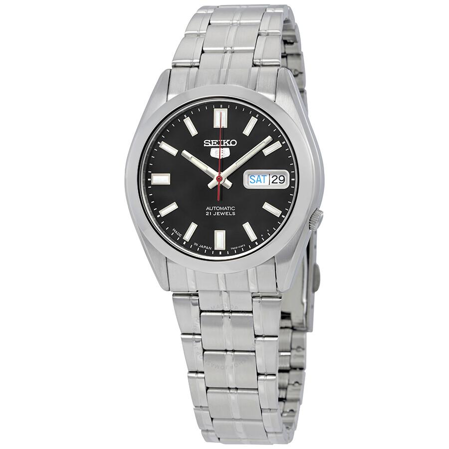 79f61a877 Seiko Series 5 Automatic Date-Day Black Dial Men's Watch SNKE87J1 ...